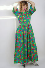 Load image into Gallery viewer, Vintage Neon Daisy Palazzo Jumpsuit