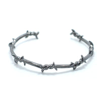 ORIGINAL DARK SILVER BARBED WIRE CUFF BRACELET