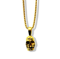 SMALL GOLD SKULL PENDANT NECKLACE