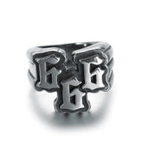 STAINLESS STEEL SILVER 666 999 RING