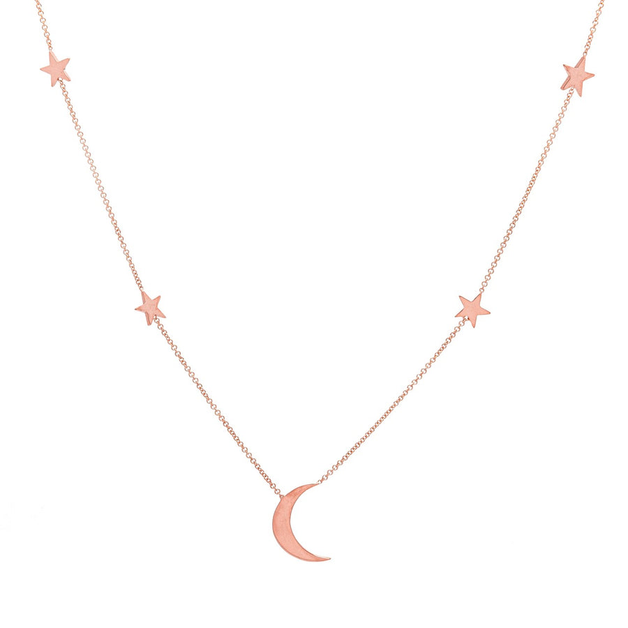 14k Rose Gold Shoot for the Moon Station Necklace.