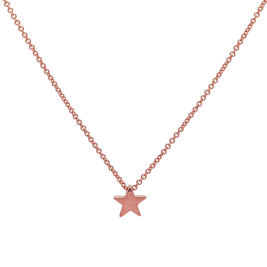 14k Rose Gold Shining Star Pendant.