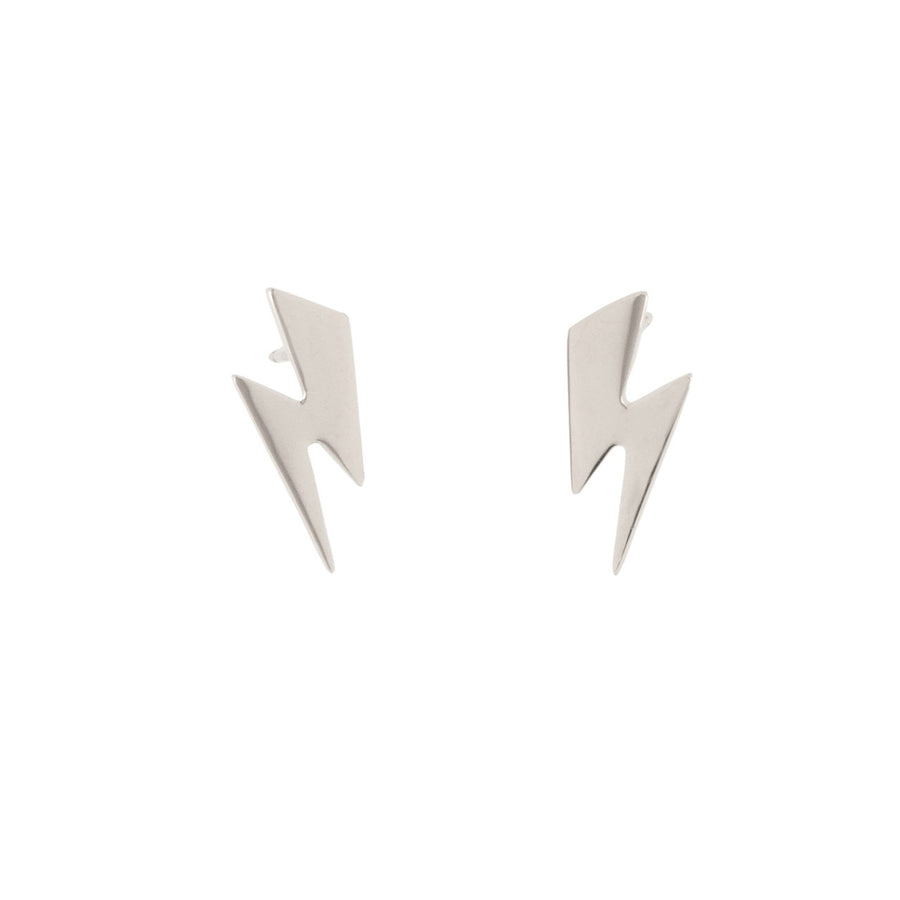 14k Striking Lightening Bolt Earrings