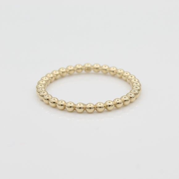 14k Gold Bead Eternity Band