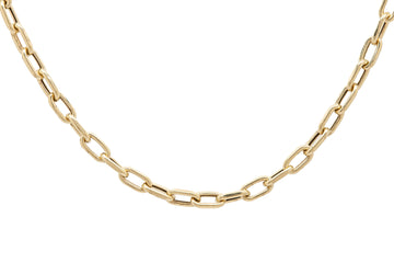14k Rounded Retro Chunky Paperclip Link Chain