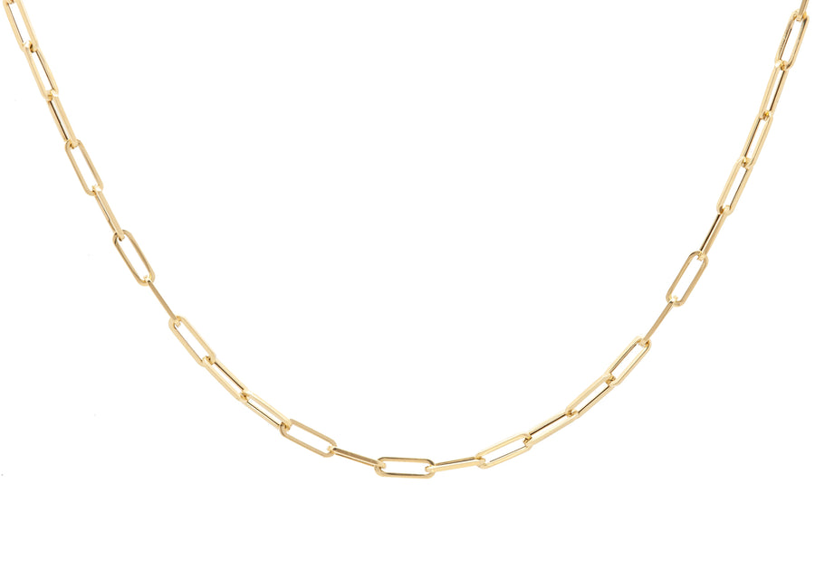 14k Charming Retro Medium Paperclip Link Chain