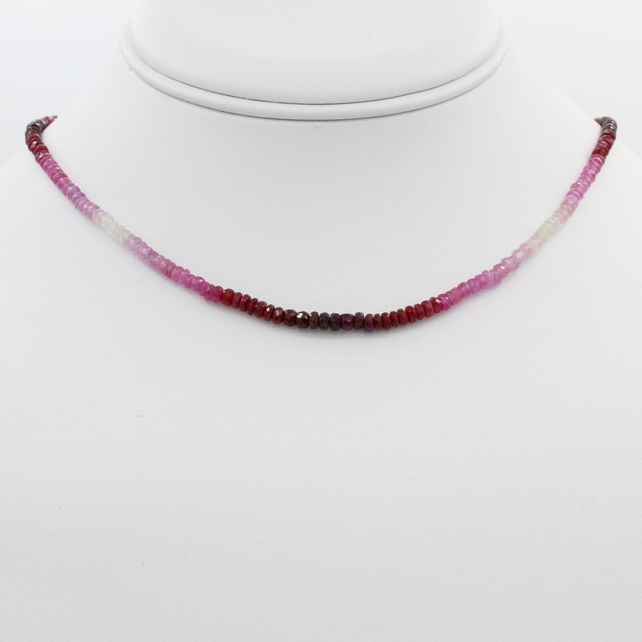 Radiant in Red 40CT Adjustable Ombre Ruby Choker Necklace