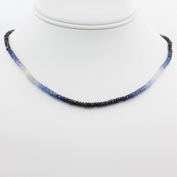 Beauty in Blue 40CT Adjustable Ombre Sapphire Choker Necklace