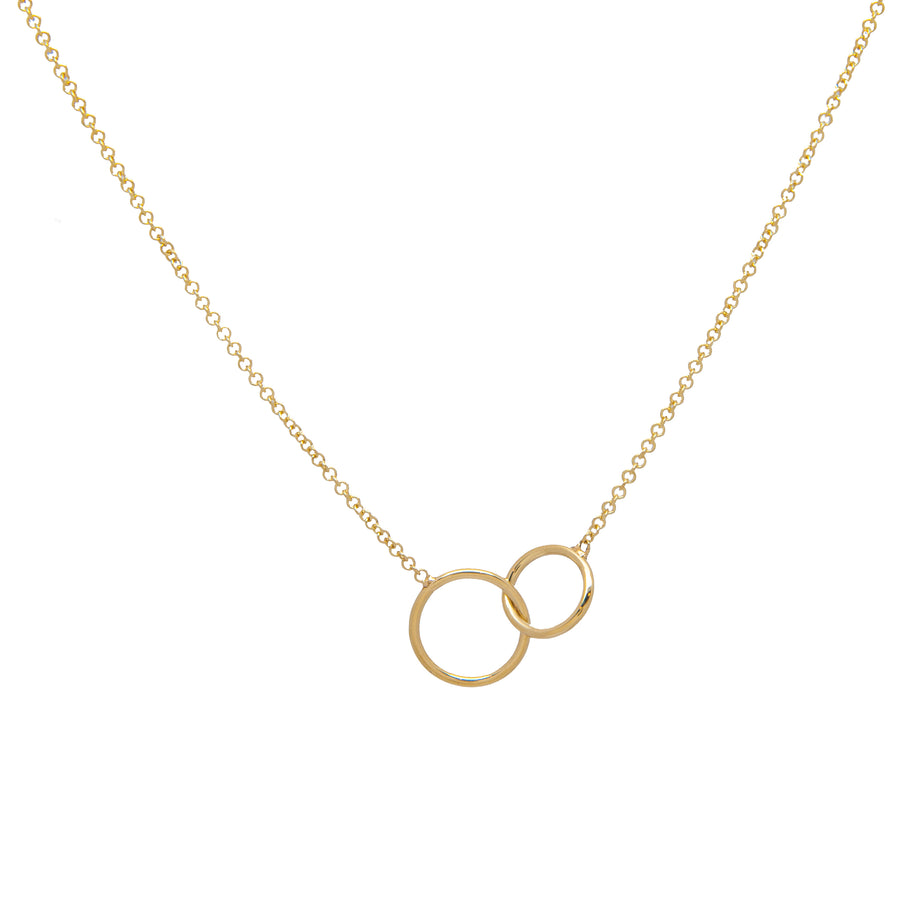 14k Gold Coveted Connections Linked Ring Necklace