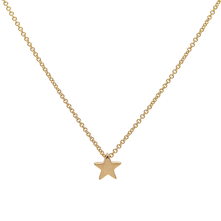 14k Yellow Gold Shining Star Pendant.