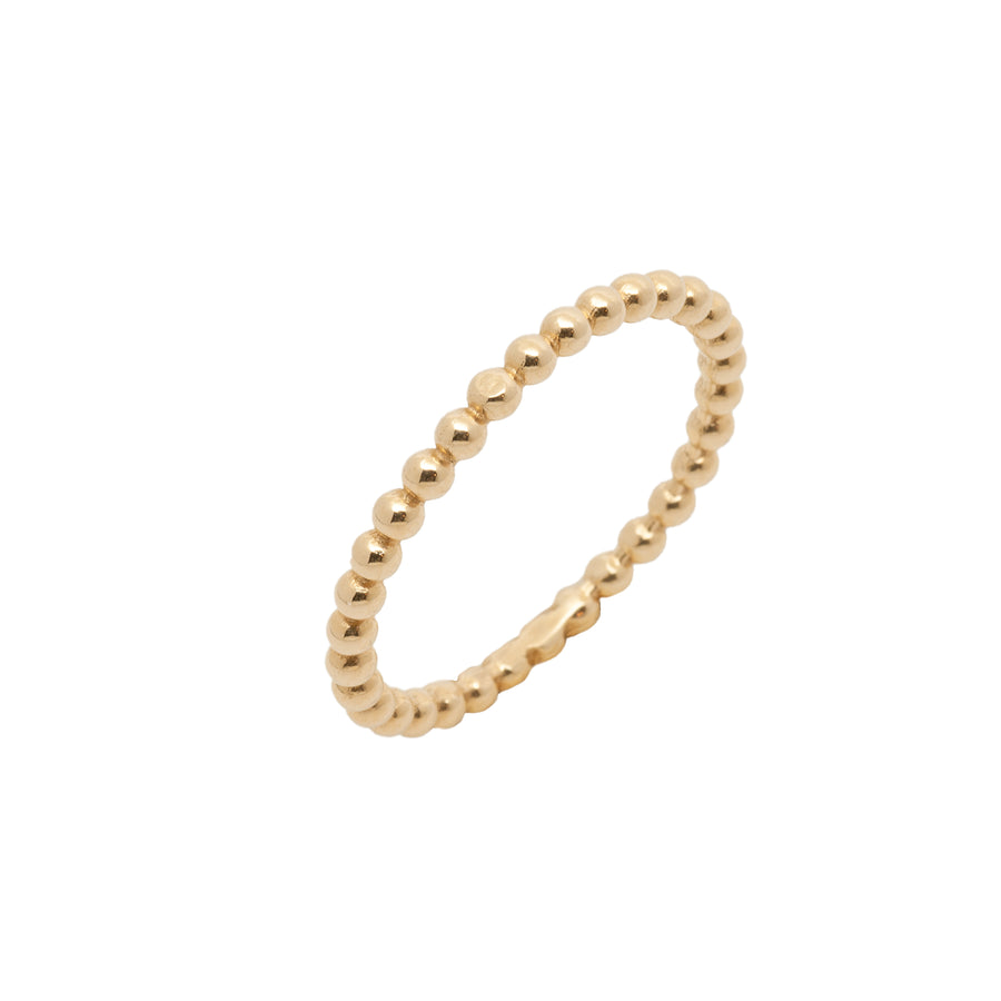 14k Yellow Gold Beaded Eternity Band.