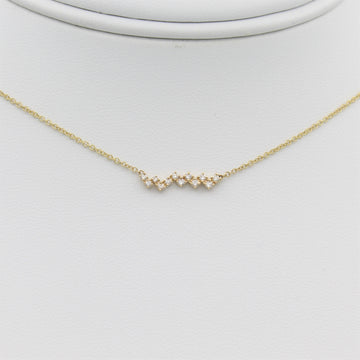 14k Gold Zig-Zag Diamond Bar Pendant