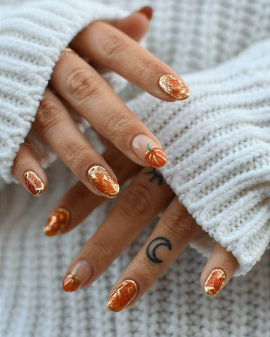 short halloween nail design ideas 2020