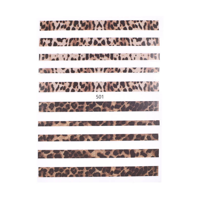 1pc Leopard Prints Self-Adhesive Nail Stickers VT202320 - Vettsy