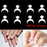 Hot Sale 500Pcs/set Short White French Manicure VT202182 - Vettsy