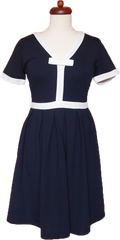 We're Going To Be Friends Dress (Navy)