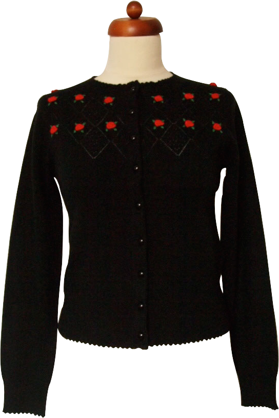 Picture of Flowers In The Window Cardigan (Black)