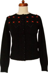 Flowers In The Window Cardigan (Black)