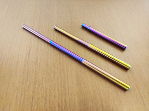Metal Straw Collapsible/ Telescopic (Rainbow)