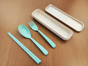 Wheat Cutlery Set Various Colours