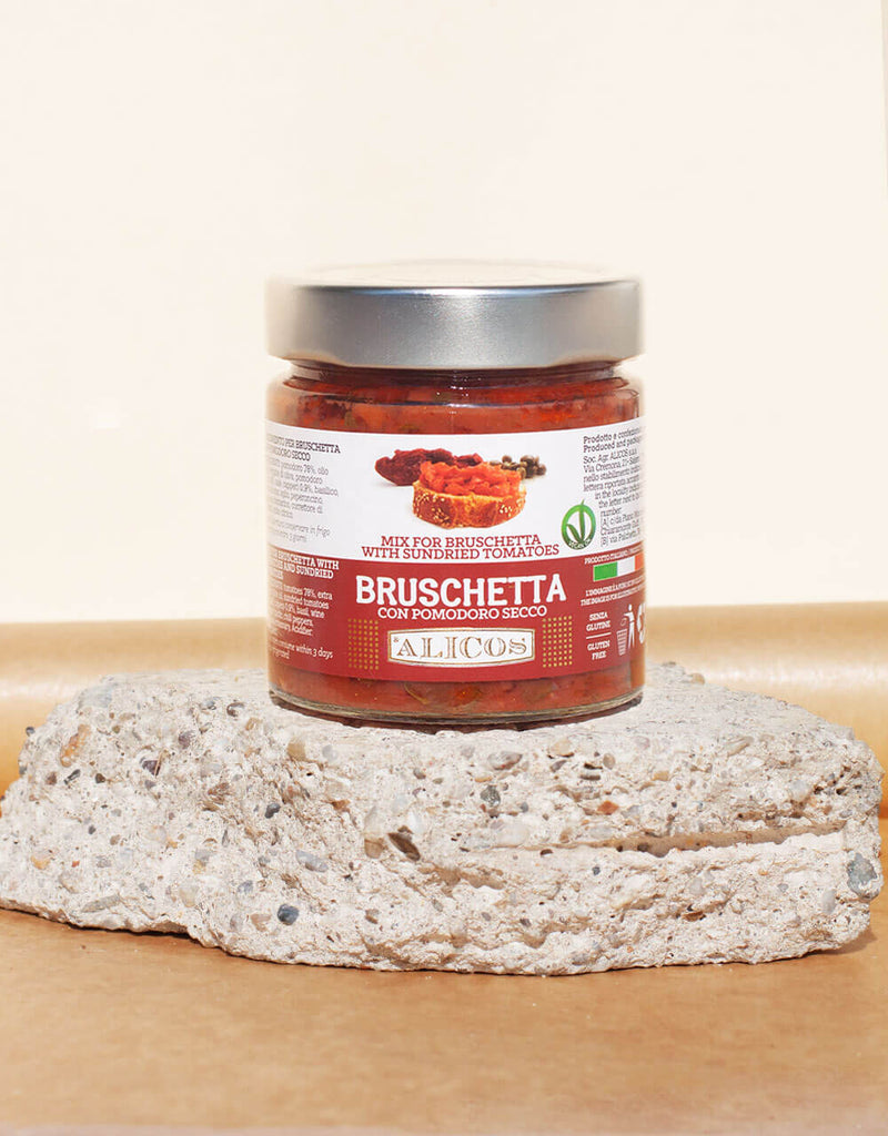 DRESSING FOR BRUSCHETTA WITH DRY TOMATO
