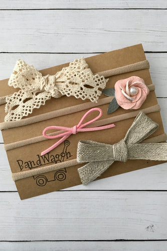 Lace and Burlap Set