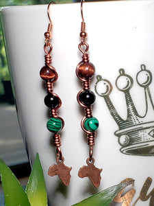 Africa Charm Earrings 2