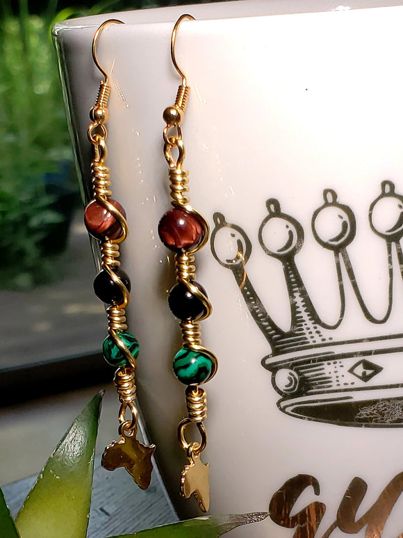Africa Charm Earrings 1