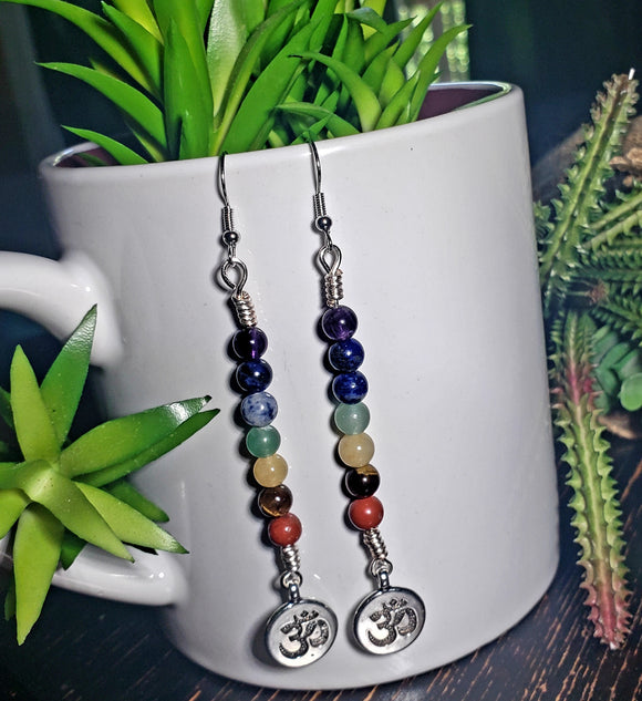 Chakra OM Earrings