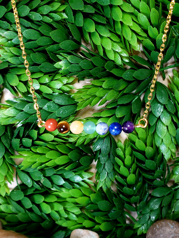 Chakra necklace - gold