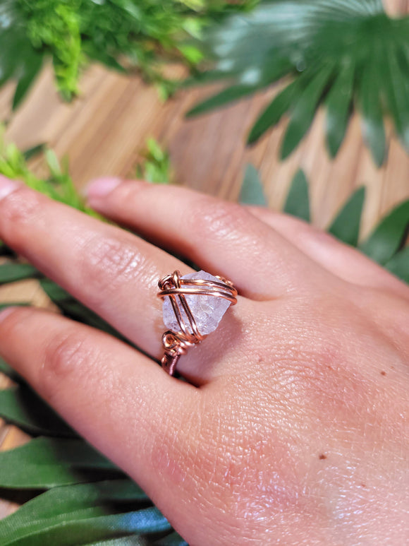 Rose Quartz Ring 2