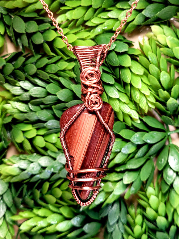 Red Tigers Eye Pendant 1