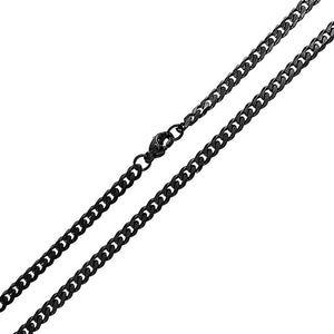 Black Chain Link Necklace - 18 inch