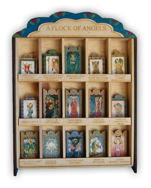 #S015AB Painted Display Box - Flock of Angels