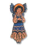 #A010CO Blue Christmas Angel - Cut Out