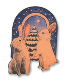 #A009CO Christmas Bunnies - Cut Out