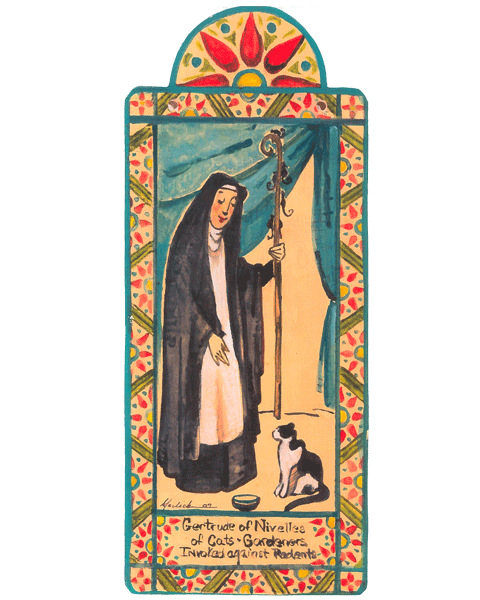 #063 St. Gertrude of Nevilles - Cats & Against Rodents