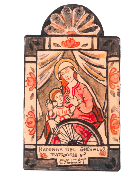 #108 Madonna del Ghisallo - Cyclists