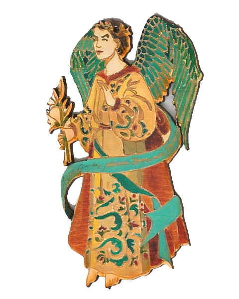 #A002CO Archangel Gabriel - Cut Out