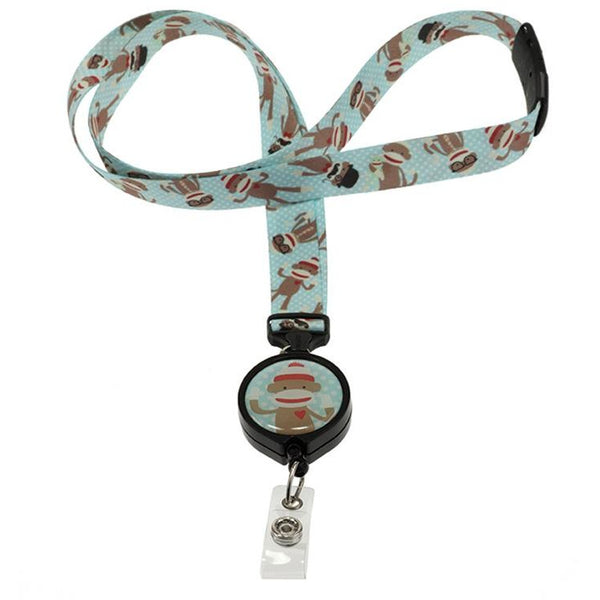 Monkey Ribbon Lanyard and Badge Reel