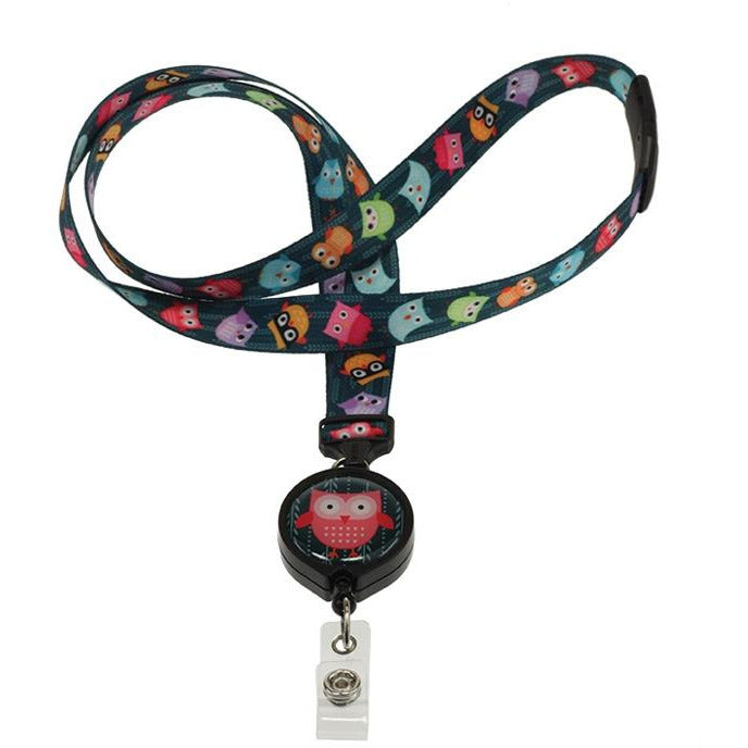 Ozzy Owl Ribbon Lanyard and Badge Reel