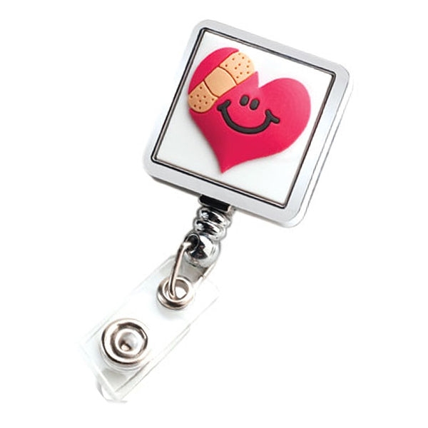 Square Badge Reel - Mended Heart