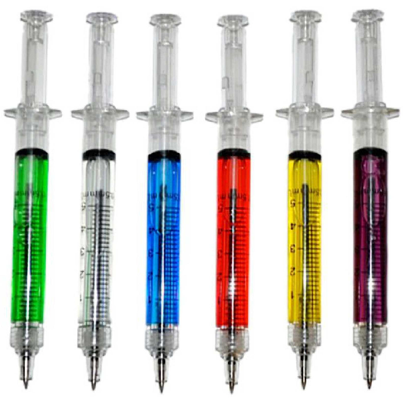 Pack of Six Syringe Pens with Black Ink