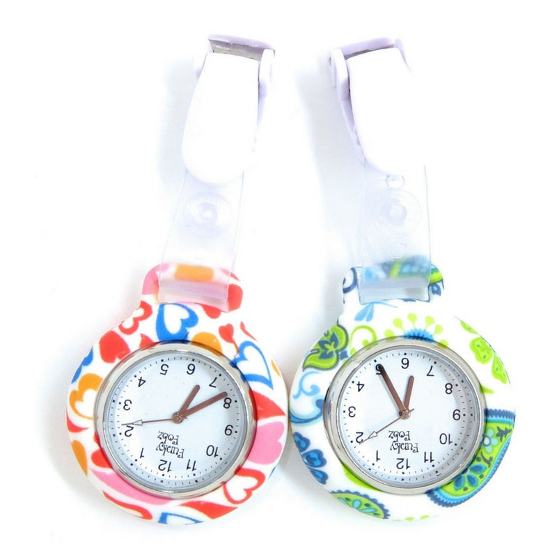 Patterned Silicone Clip Watch