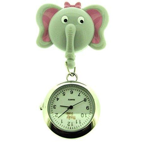 Elephant Retractable ID Reel with Watch