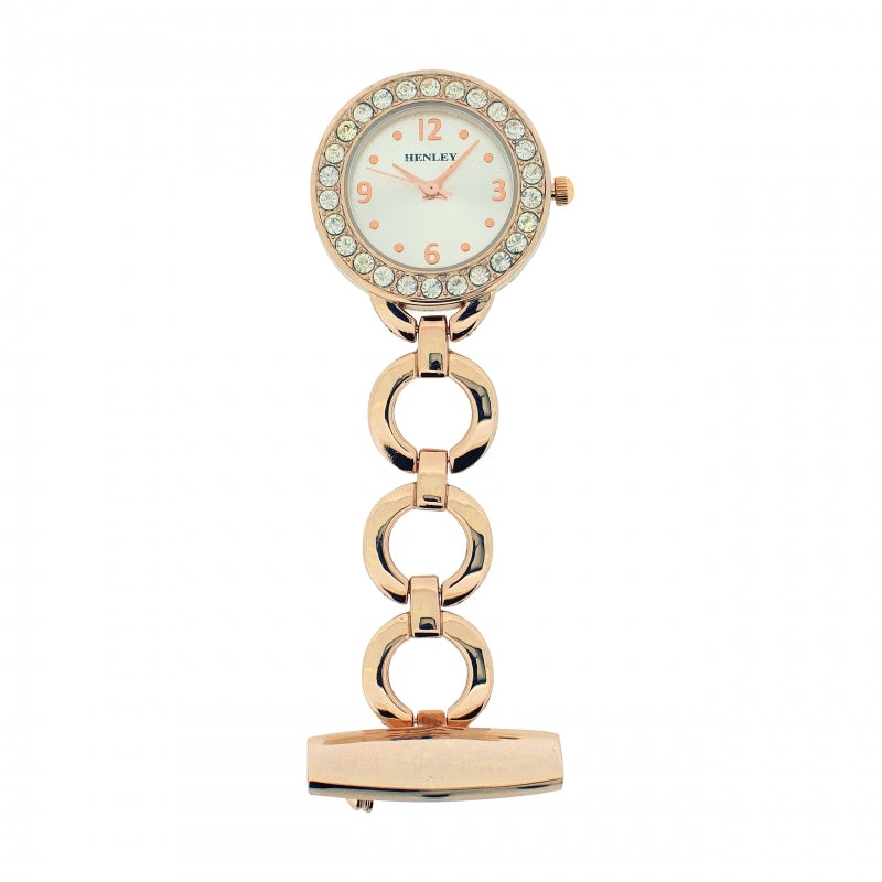 Henley Rose Gold Fob Watch