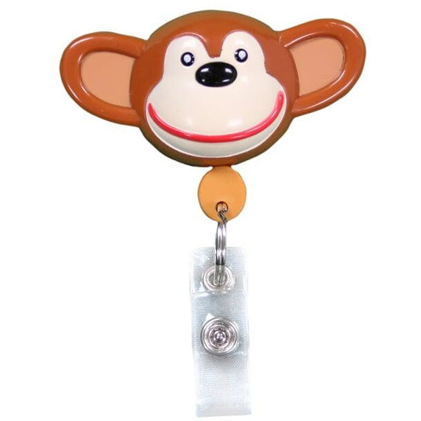 Pedia Pals Monkey Retractamal ID & Security Badge