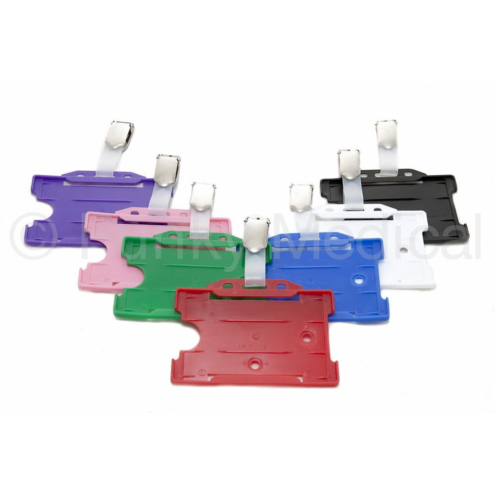 Horizontal BullDog ID Badge Holders - 7 Colours