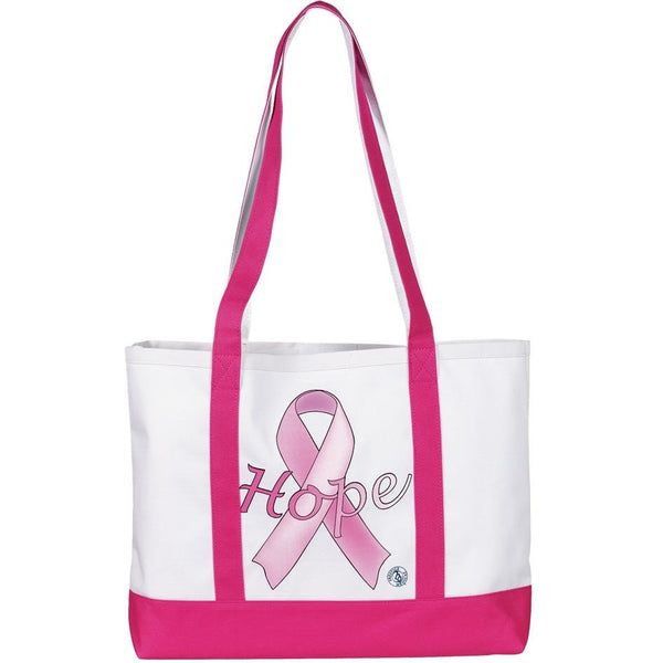 Large Tote Bag - Pink Ribbons