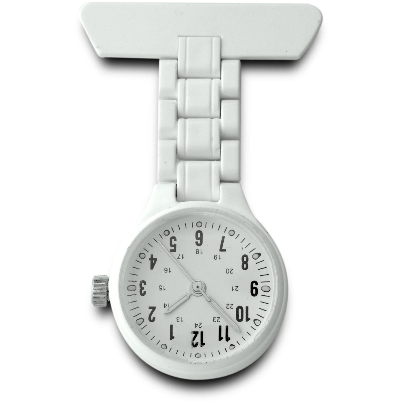Sekonda White Plastic Fob Watch